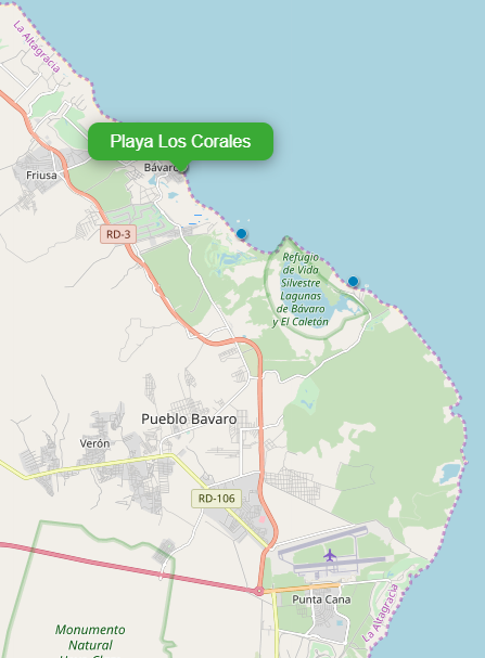 Playa_Los_corales_Map